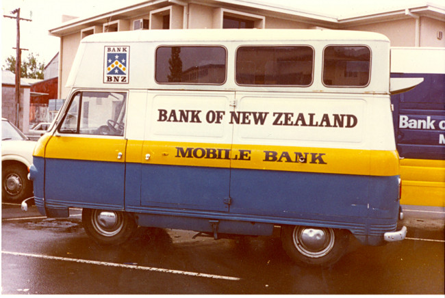 Hamilton East Mobile Bank taken in July 1981