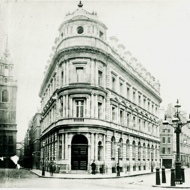 London No 1 Queen Victoria St occupied 1876