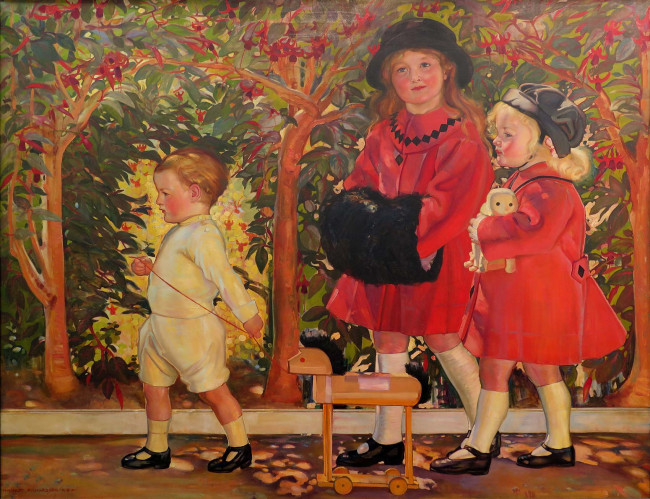 Richardson the artists three children
