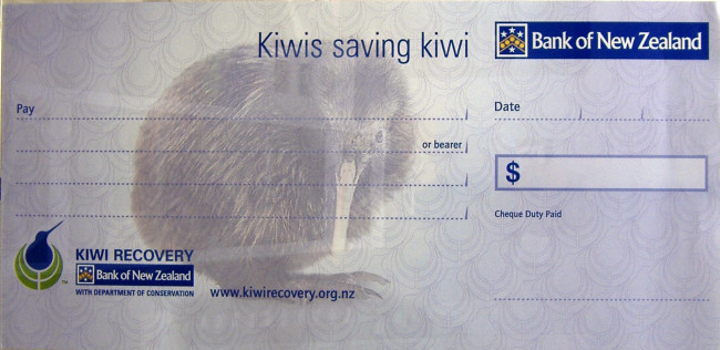 Save the Kiwi Cheque
