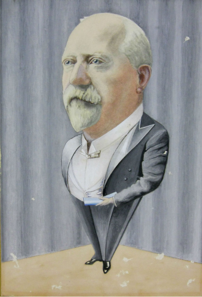 Sir Harold Beauchcamp Caricature