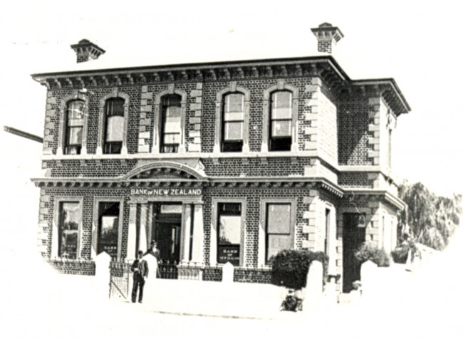 Waimate premises built in 1883 photo dated 1906